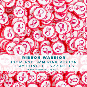 Ribbon Warrior- Pink Ribbon Sprinkles mix
