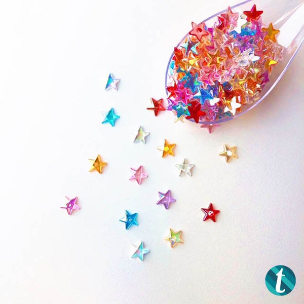 Shooting Sparkle Stars - Resin Rhinestone Star Mix