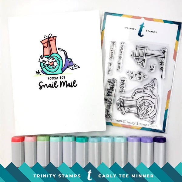 Mr. Snailman 3x4 Stamp set