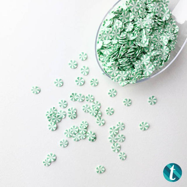 Spearmint Candy Confetti Sprinkles Mix