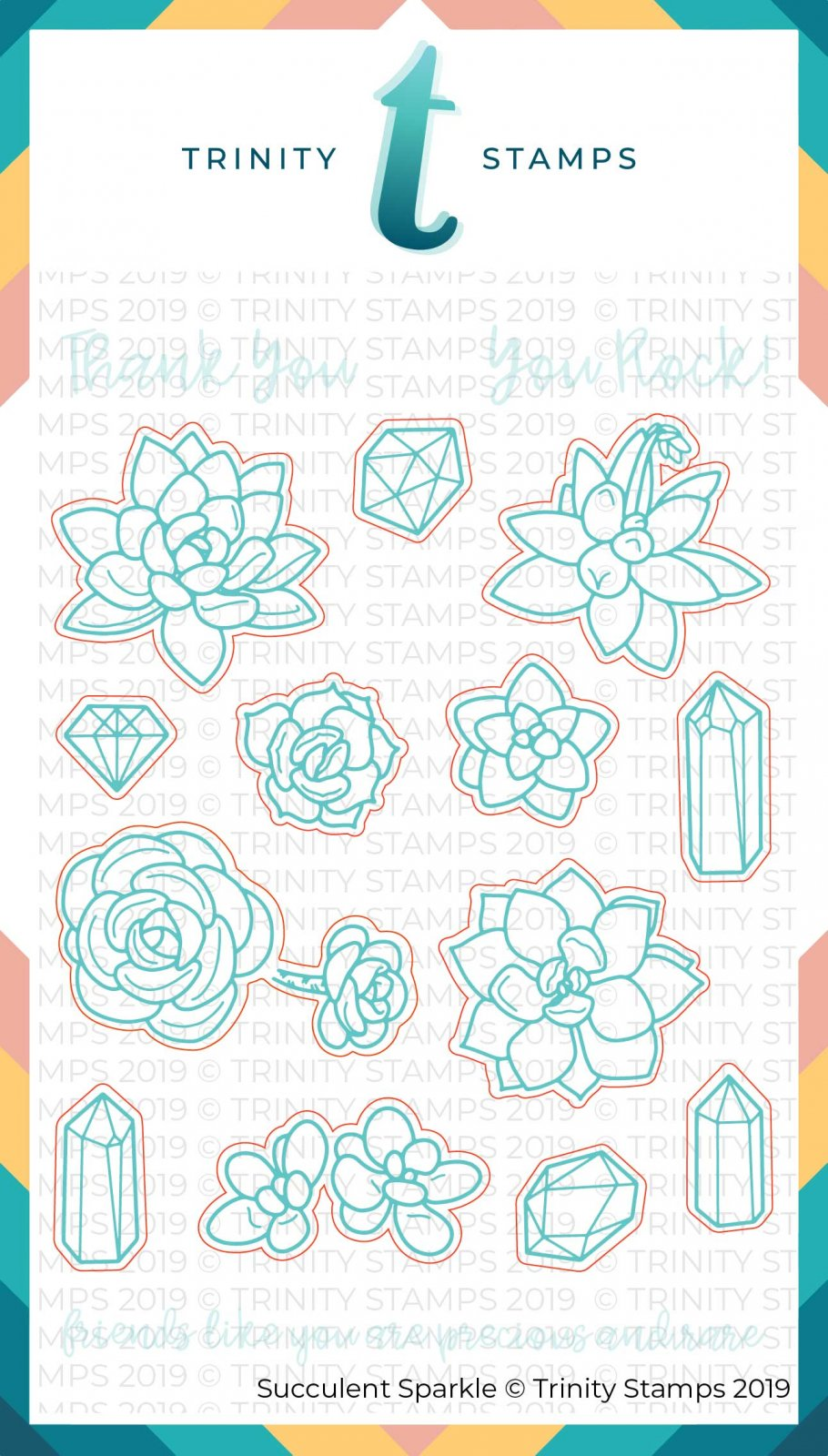 Succulent Sparkle Coordinating Die Set