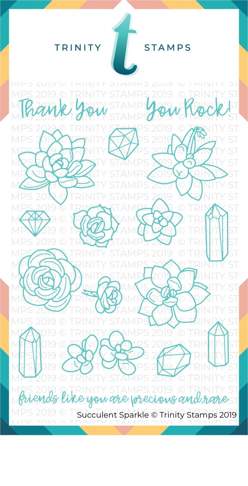 Succulent Sparkle 4x6 Stamp Set