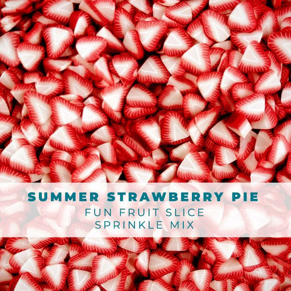 Summer Strawberry Pie - Fruit Slice Sprinkle Embellishment Mix