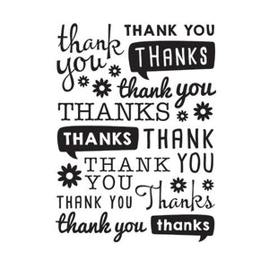 Scattered Thank You  Embossing Folder