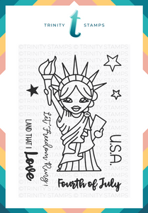 Lady Liberty 3x4 Stamp Set