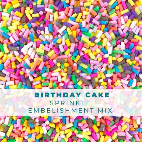 Birthday Cake Sprinkle Embellishments
