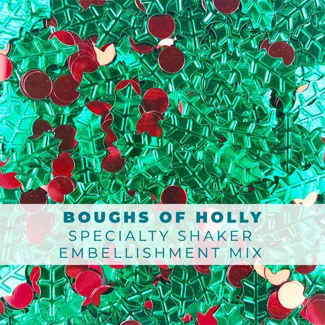 Boughs of Holly Seasonal Confetti Shaker Mix