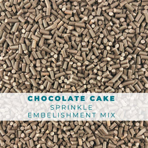 Chocolate Cake Sprinkle Embellishments
