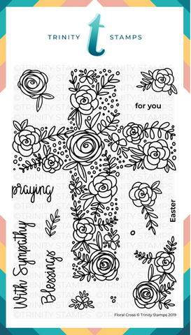 Floral Cross 4x6 Stamp Set
