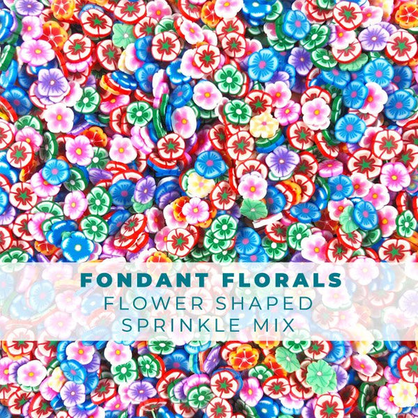 Fondant Florals - Flower Sprinkle Mix