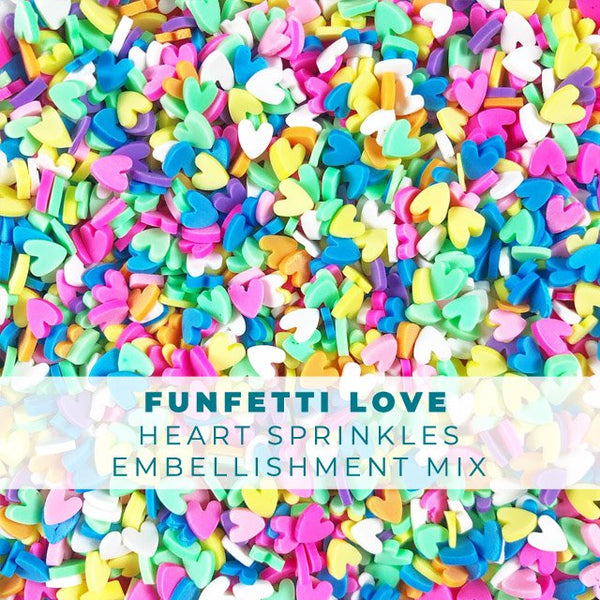 Funfetti Love - Heart Shaped Sprinkle Embellishments