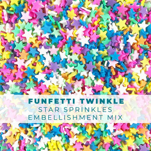 Funfetti Twinkle - Star-shaped Sprinkle Embellishments