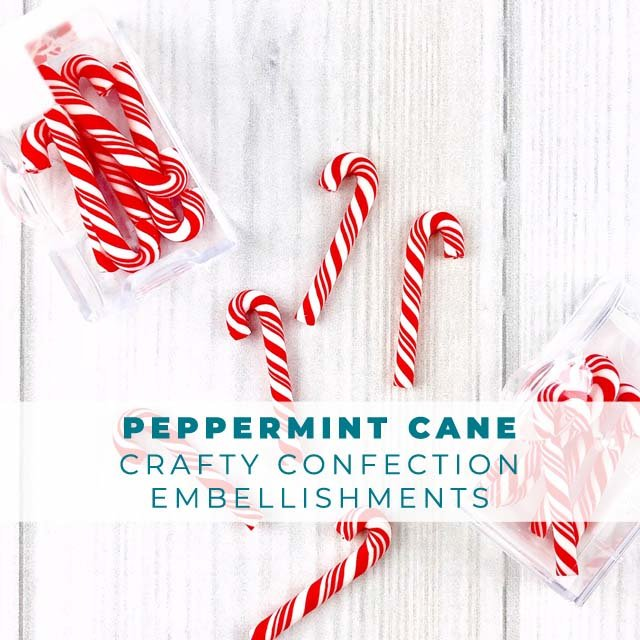 Mini Peppermint Candy Cane Embellishments