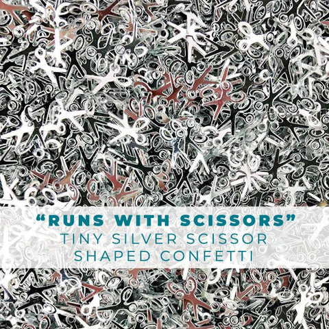 """Run's With Scissors..."" Scissor Shaped Confetti Embellishments"