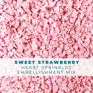 Sweet Strawberry Heart Sprinkles Embellishments