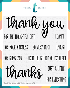 4x4 Thank you Senti-mini Stamp Set