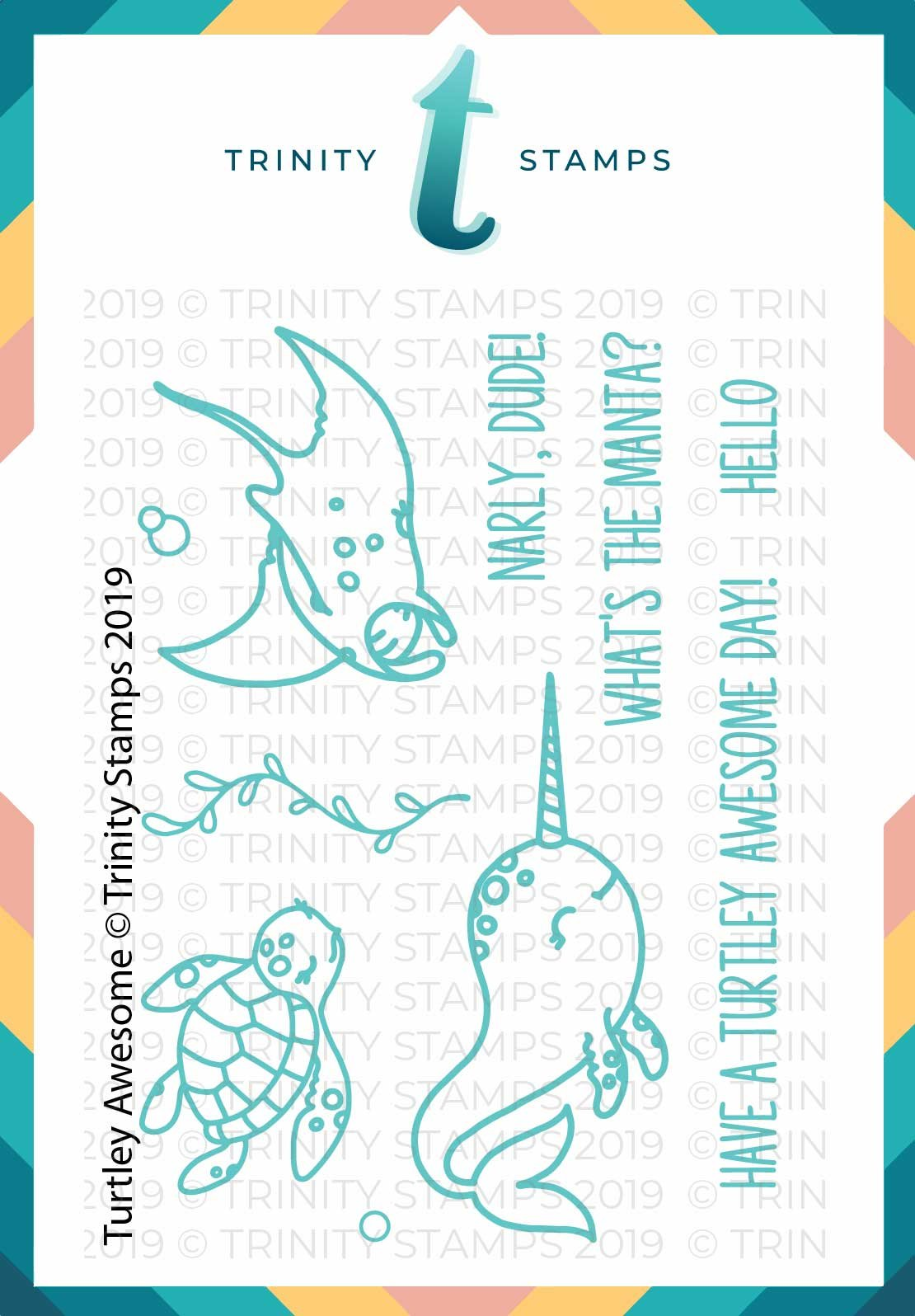 3x4 Turtley Awesome Stamp Set