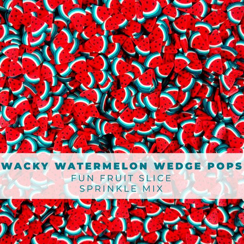 Wacky Watermelon Wedge Pops - Fruit Slice Sprinkle Embellishment Mix
