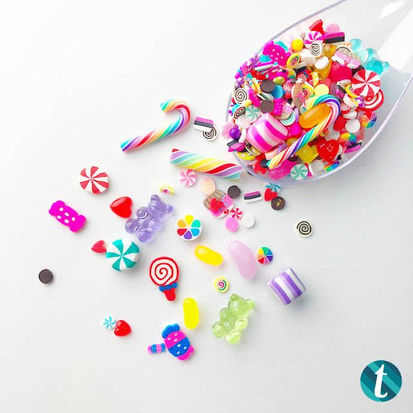 What's In Your Bucket? Faux Candy Embellishment Mix