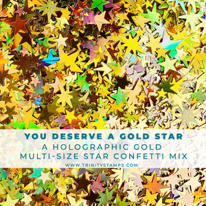 You Deserve a Gold Star - Gold Holographic Star Confetti Mix