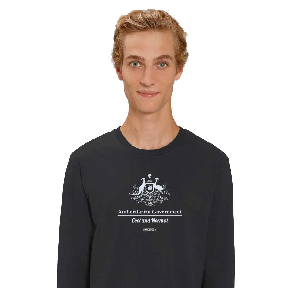 Cool and Normal, Long-Sleeve, Black - Incl. Delivery (Australia)