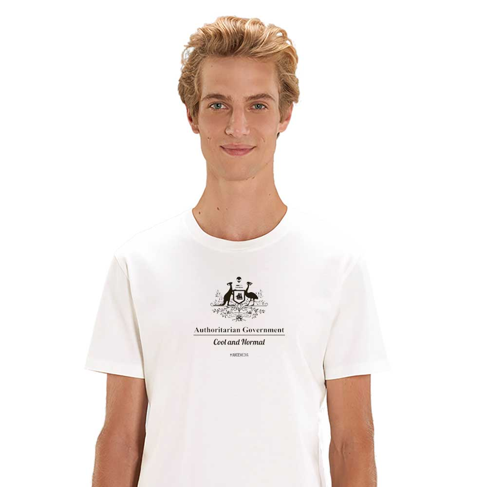 Cool and Normal, Unisex Tee, White -  Incl. Delivery (Australia)