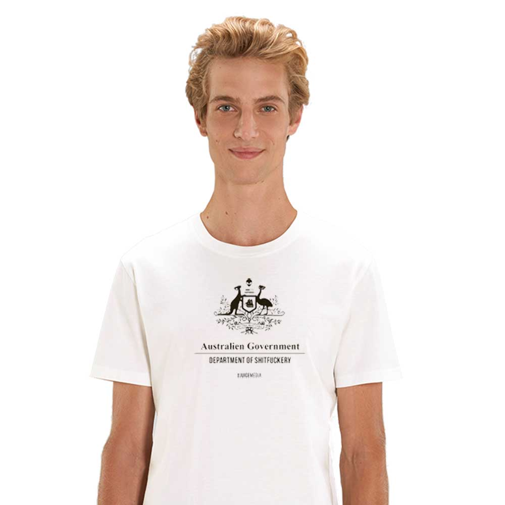 Dept of Sh*tf*ckery, Unisex Tee, White -  Incl. Delivery (Australia)