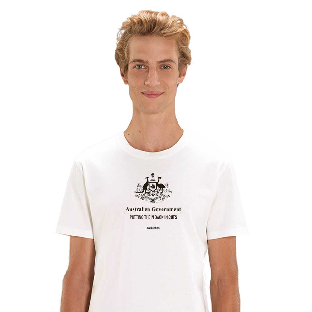 CUTS, Unisex Tee, White -  Incl. Delivery (Australia)