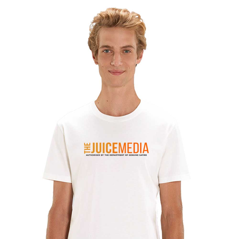 The Juice Media, Unisex Tee, White -  Incl. Delivery (Australia)