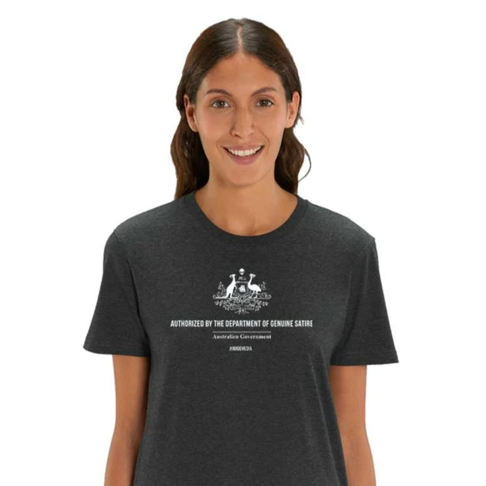 Dept of Genuine Satire,  Unisex Tee, Heather Grey - Incl. Delivery (Australia)