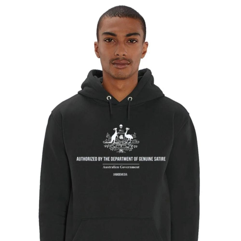 Dept of Genuine Satire, Hoodie, Black - Incl. Delivery (Australia)