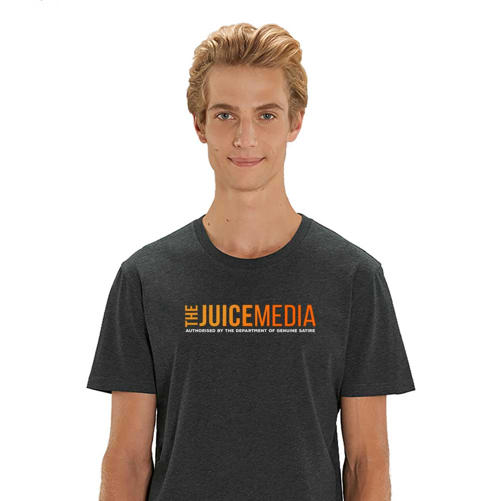 The Juice Media, Unisex Tee, dark Heather Grey -  Incl. Delivery (Australia)