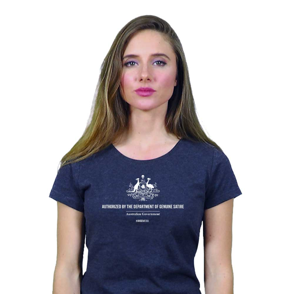 Dept of Genuine Satire, Ladies, Dark Heather Grey - Incl. Delivery (Australia)