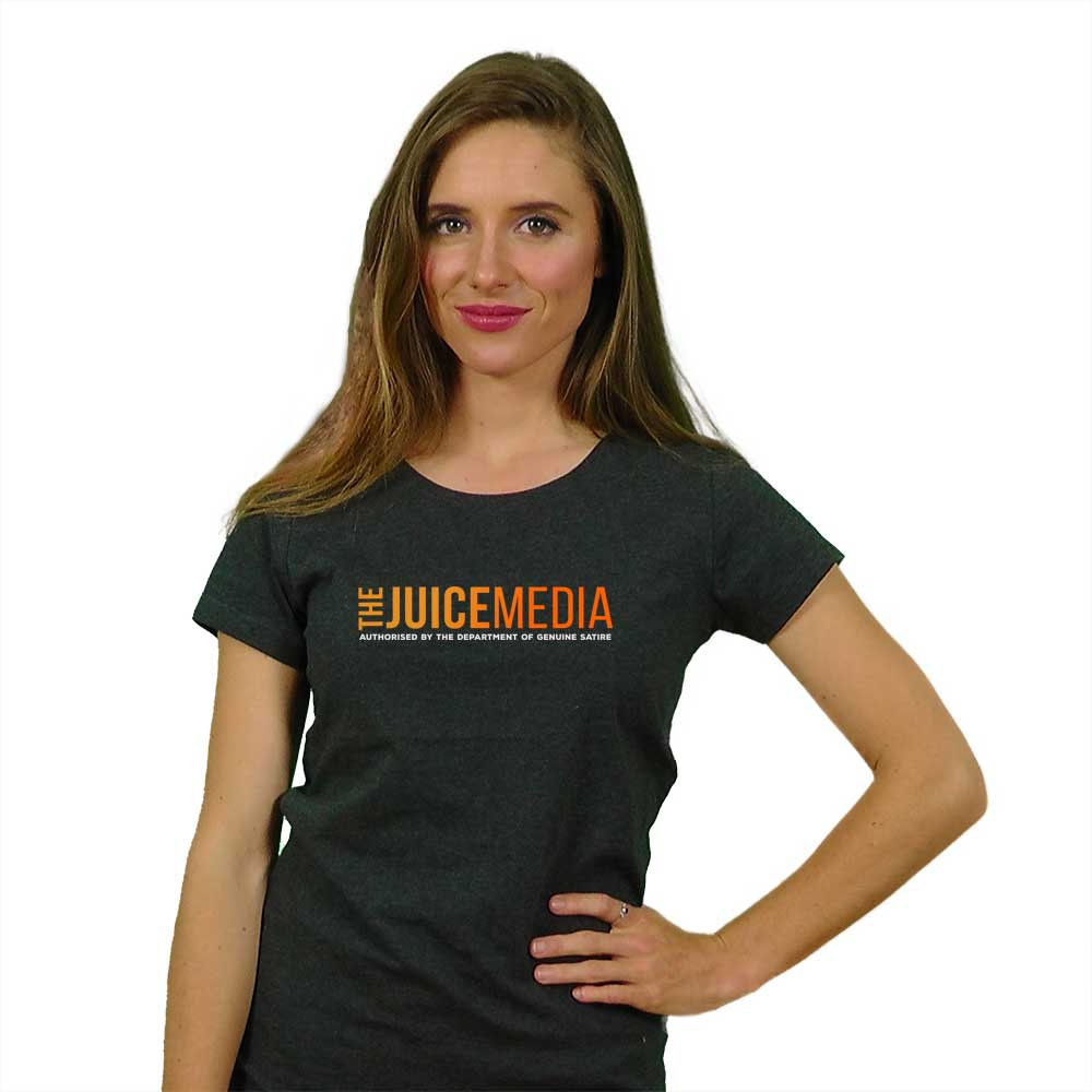 The Juice Media, Ladies, Dark Heather Grey - Incl. Delivery (Australia)