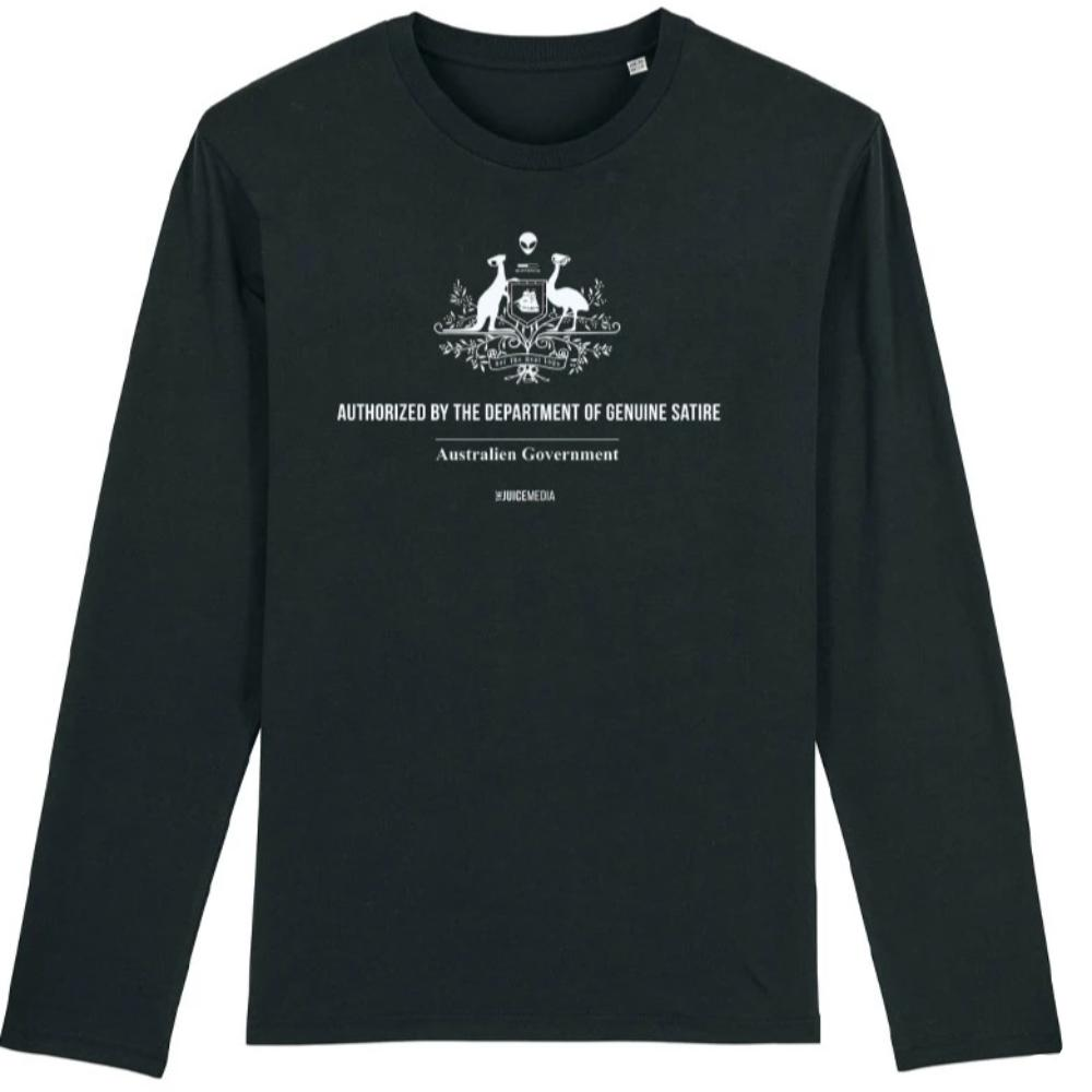 Dept of Genuine Satire, Long-Sleeve, Black - Incl. Delivery (Australia)