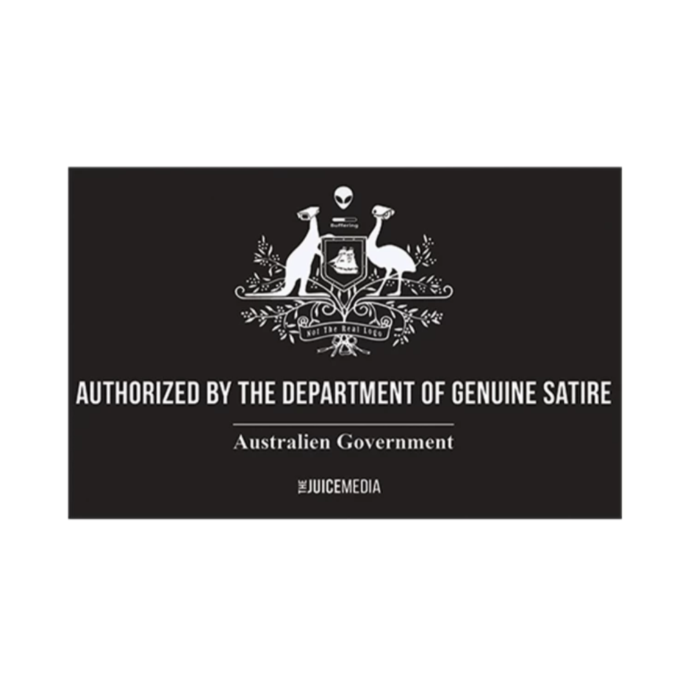 Department of Genuine Satire Hoodie - Black