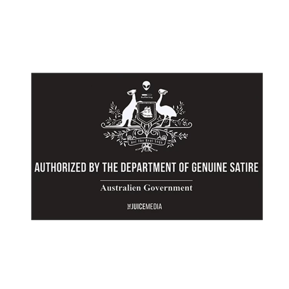 Dept of Genuine Satire, Ladies, Black - Incl. Delivery (Australia)
