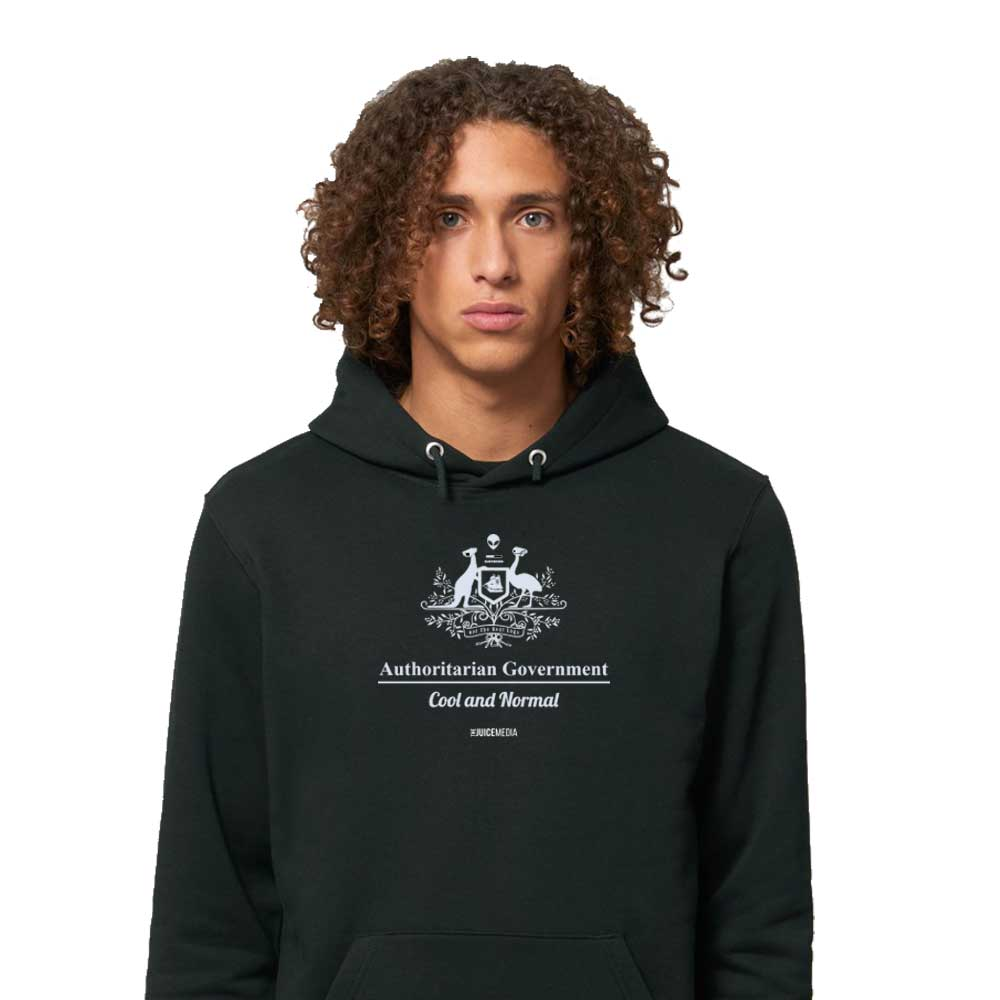 Cool and Normal, Hoodie, Black - Incl. Delivery (Australia)