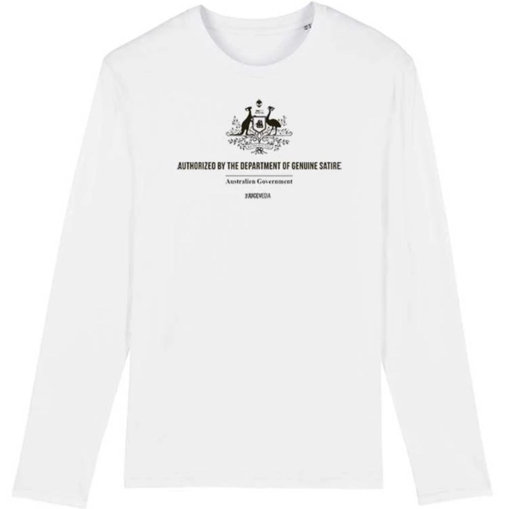 Dept of Genuine Satire, Long-Sleeve, White - Incl. Delivery (Australia)