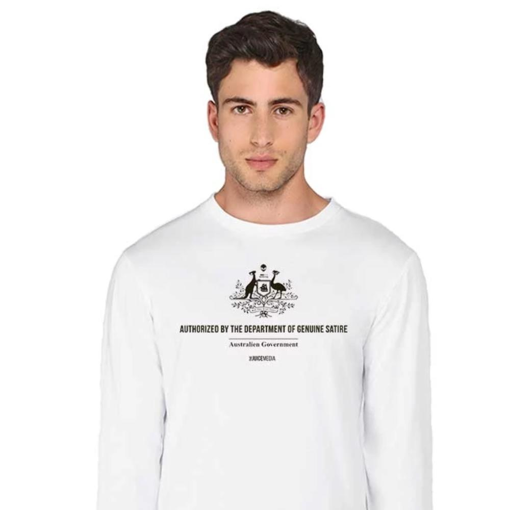 Department of Genuine Satire Long-Sleeve-White