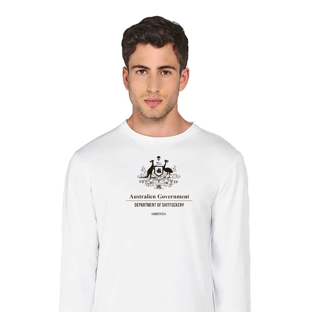 Dept of Sh*tf*ckery, Long-Sleeve, White - Incl. Delivery (Australia)