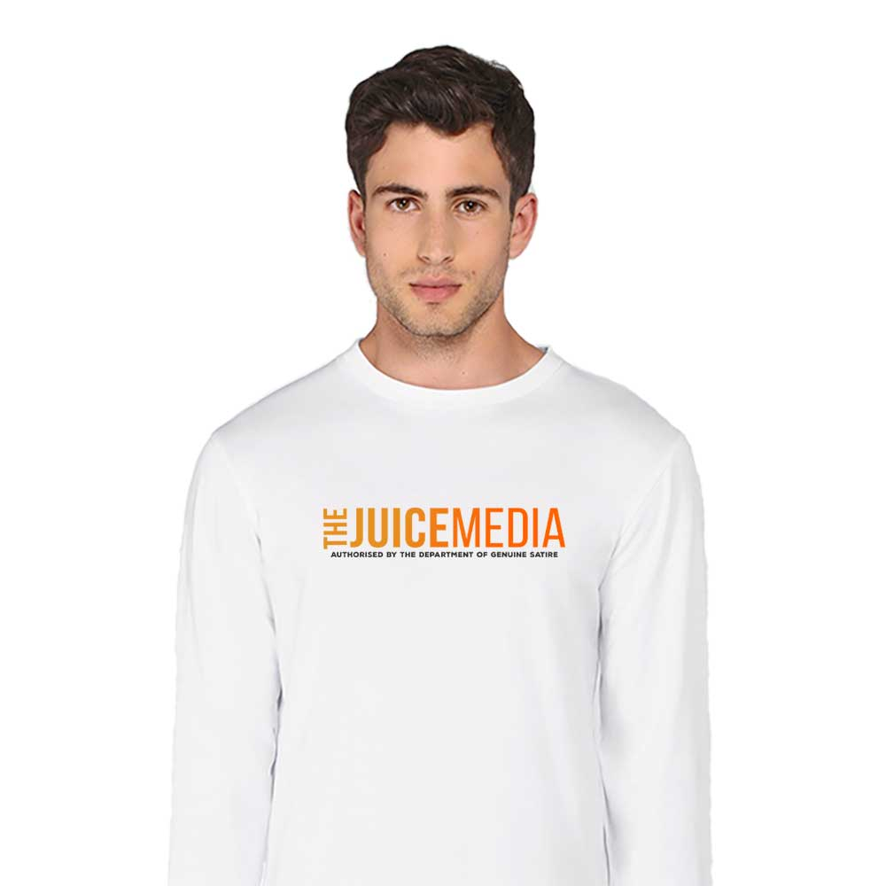 The Juice Media, Long-Sleeve, White - Incl. Delivery (Australia)