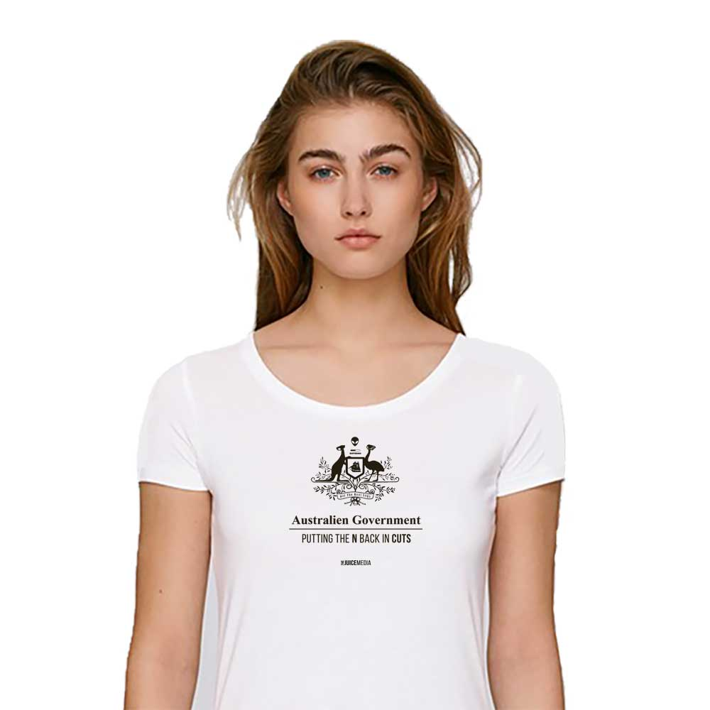 CUTS, Ladies Tee, White - Incl. Delivery (Australia)