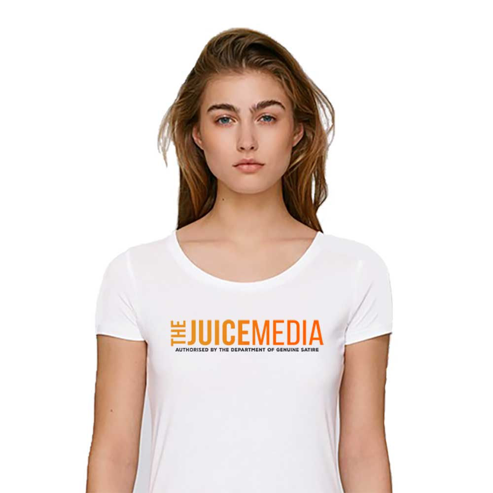 The Juice Media, Ladies Tee, White - Incl. Delivery (Australia)