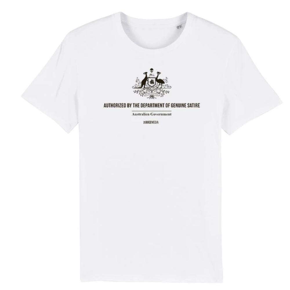 Dept of Genuine Satire, Unisex Tee, White - Incl. Delivery (Australia)