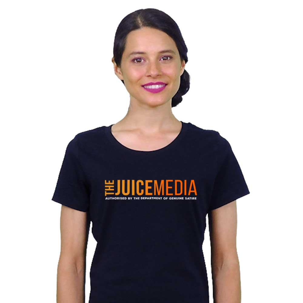 The Juice Media, Ladies Tee, Black - Incl. Delivery (Australia)