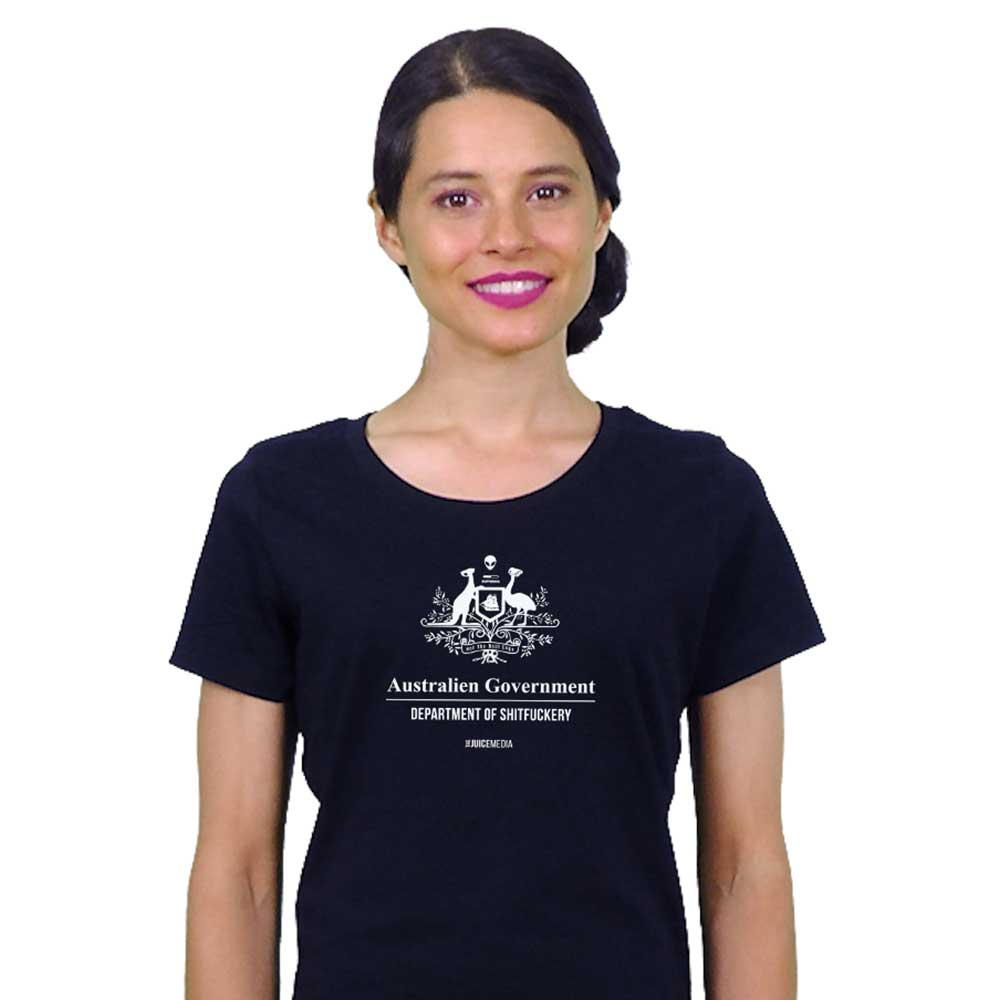 Dept of Sh*tf*ckery, Ladies Tee, Black - Incl. Delivery (Australia)