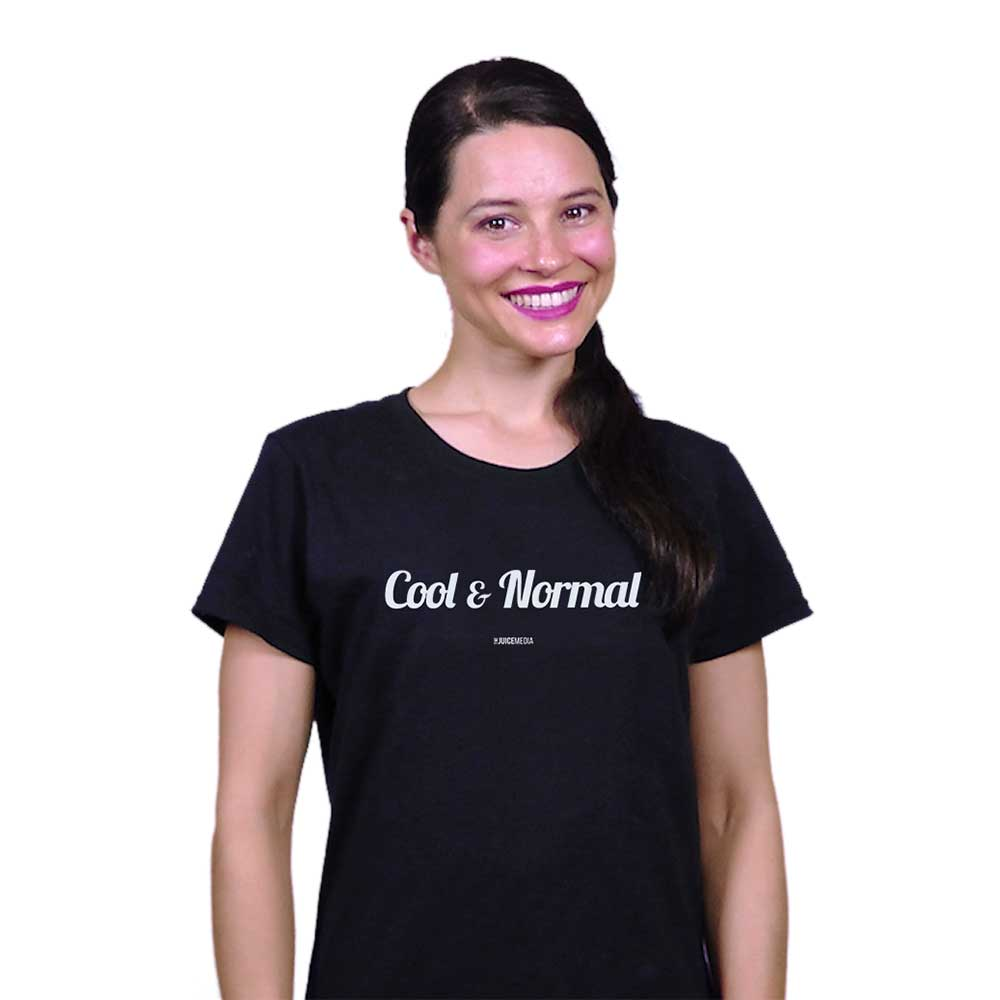 Cool & Normal (NEW), Unisex Tee, Black-incl. Delivery (Australia)