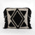 Topaz Cushion - Black Diamond Fringe