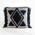 Topaz Cushion - Navy Diamond Fringe